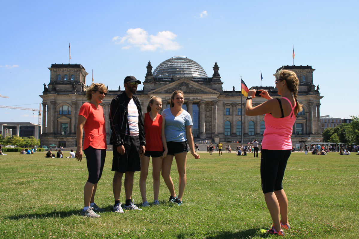 Sightrunning - Fotostopp am Reichstag